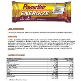 PowerBar Energize Żywność dla sportowców Berry Blast 25 x 55g
